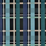 Christian Lacroix L'Entrelac Blue and Black Fabric - Product code: FCL7045/01