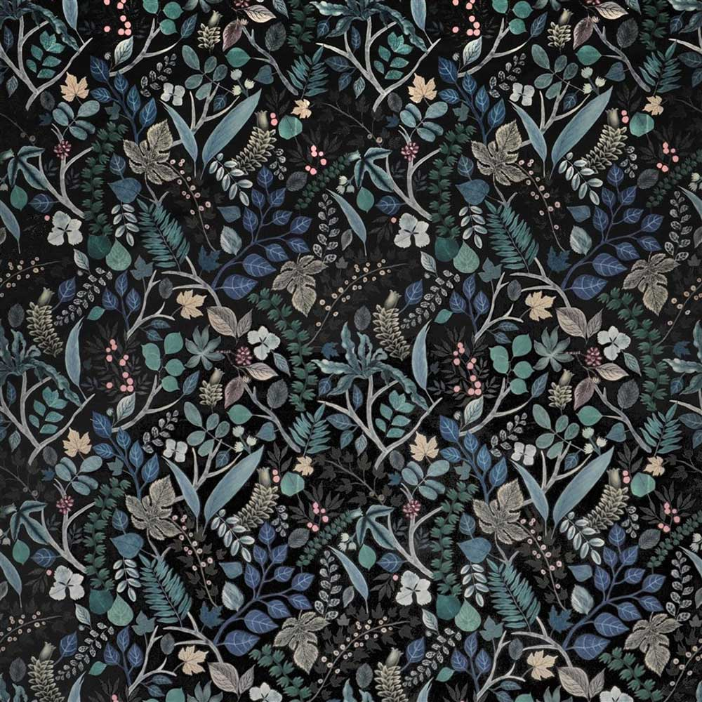 Cueillette Soft Fabric - Green and Black - by Christian Lacroix