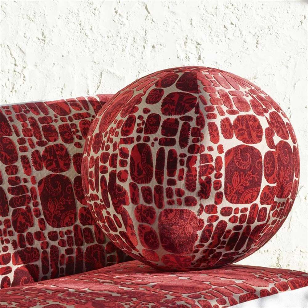 Le Pas Des Anges Fabric - Red - by Christian Lacroix