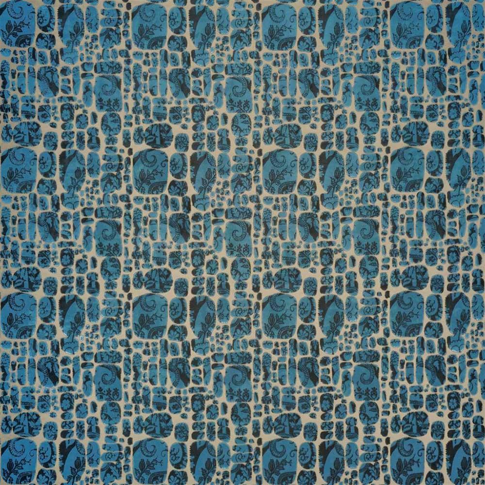 Le Pas Des Anges Fabric - Blue - by Christian Lacroix