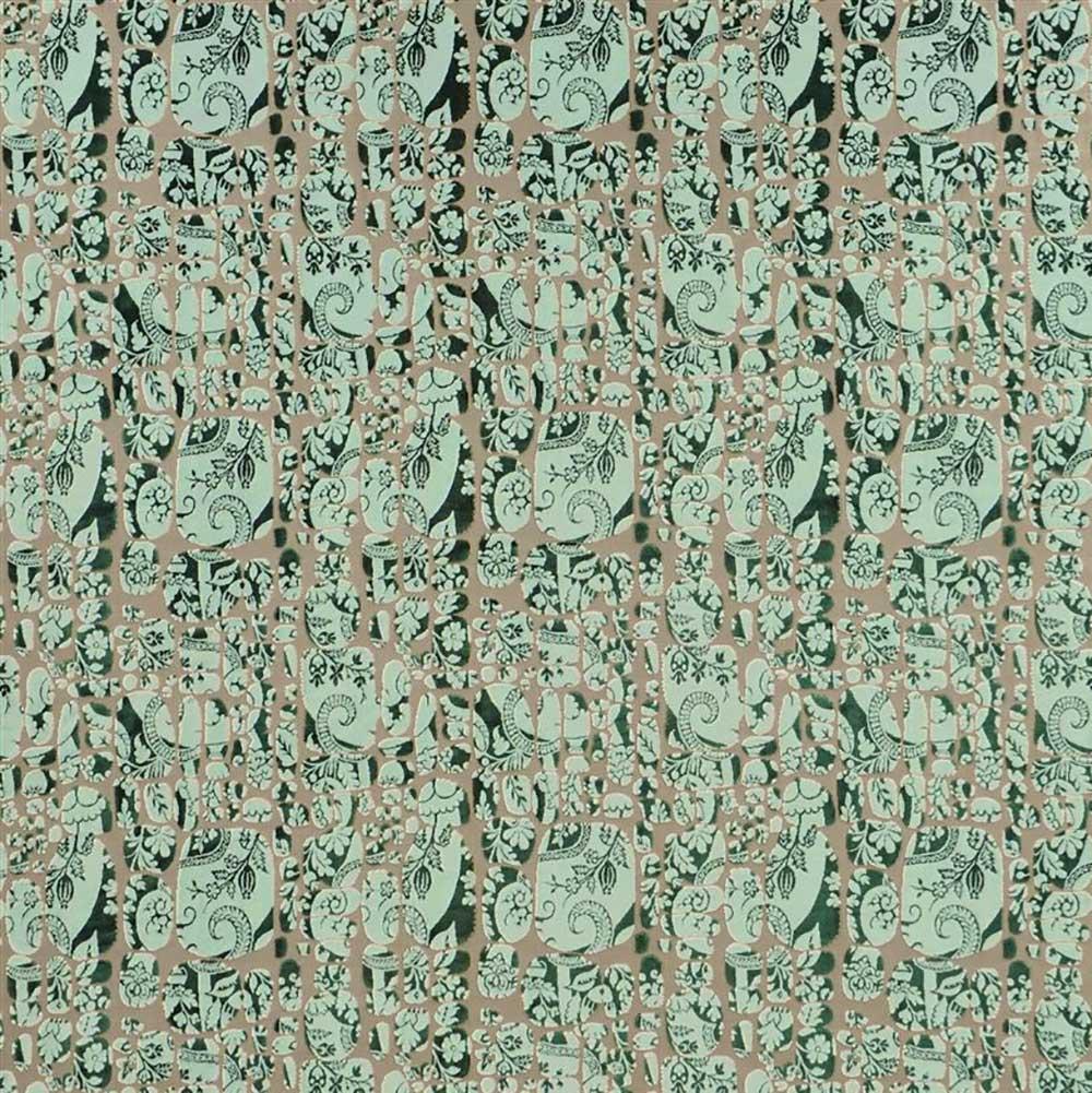Le Pas Des Anges Fabric - Green - by Christian Lacroix