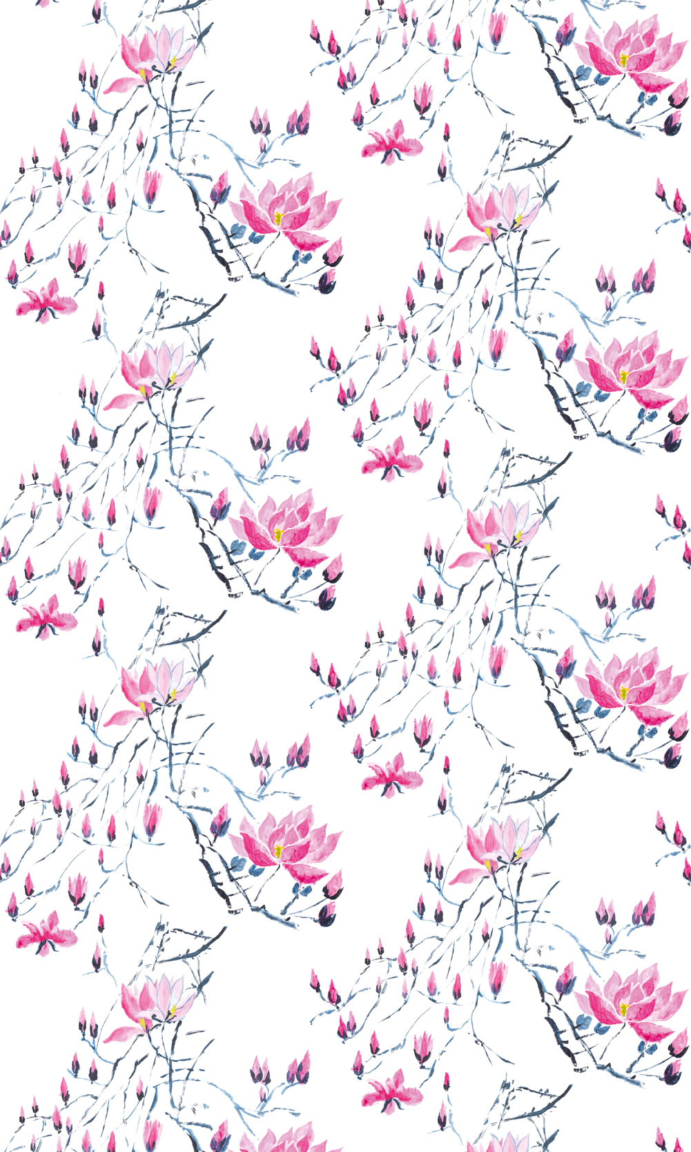 Madame Butterfly Mural - Peony - by Designers Guild