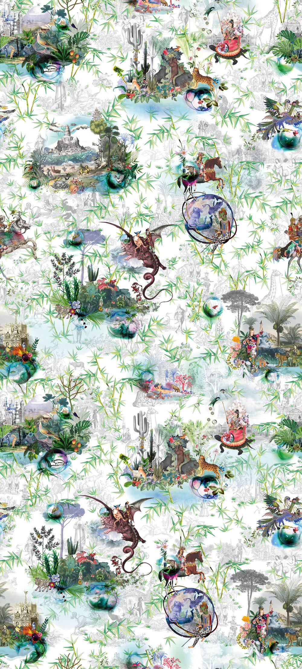 Reveries Mural - Vert Buis - by Designers Guild