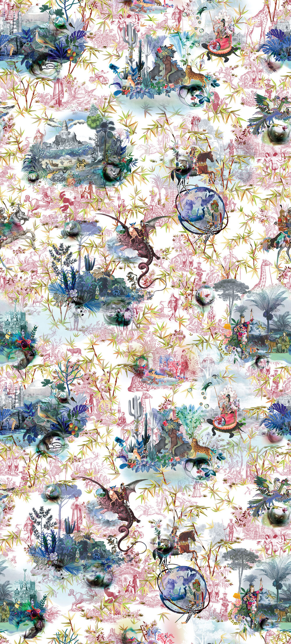 Designers Guild Reveries Tomette Mural - Product code: PCL1003/02