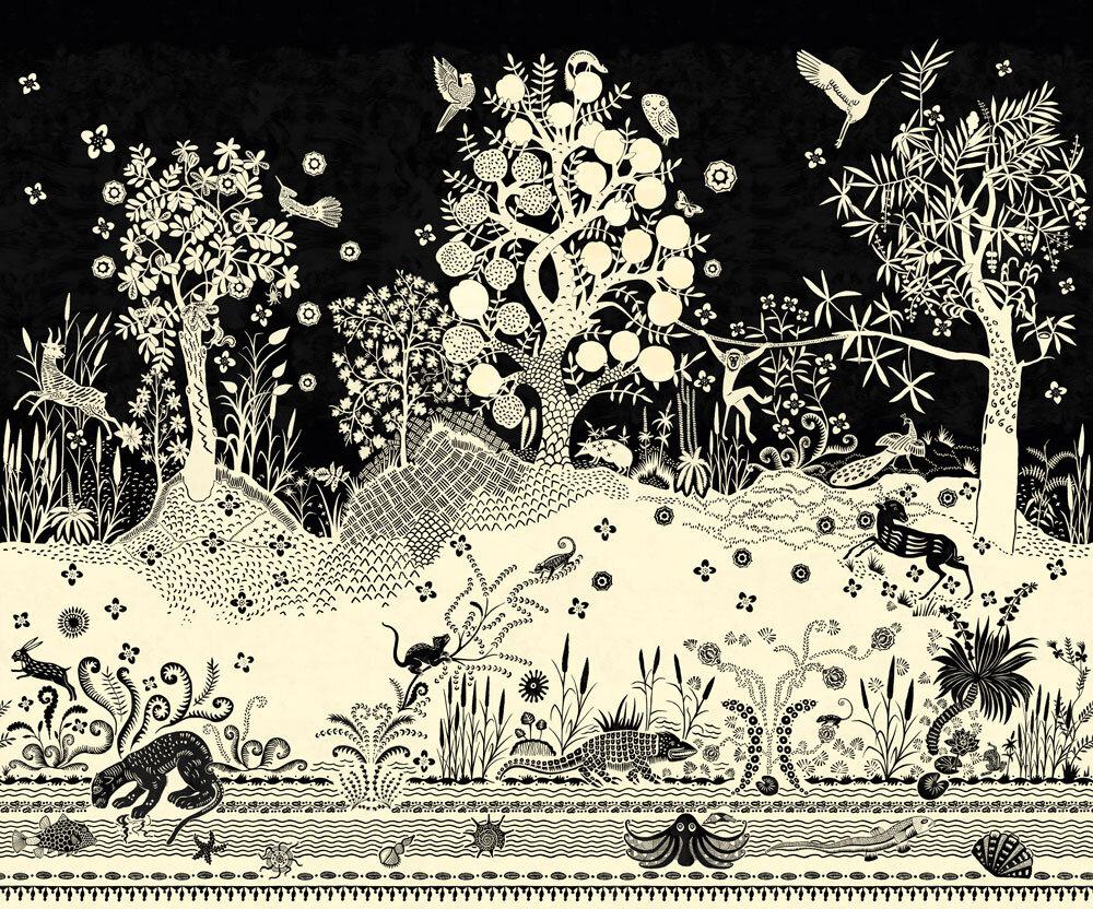 Bois Paradis Mural - Primevere - by Designers Guild