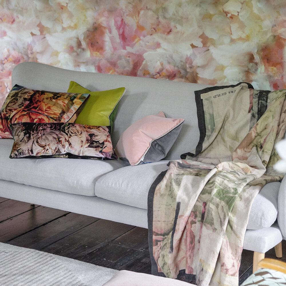 Fleur de Nuit Mural - Pale Coral - by Designers Guild