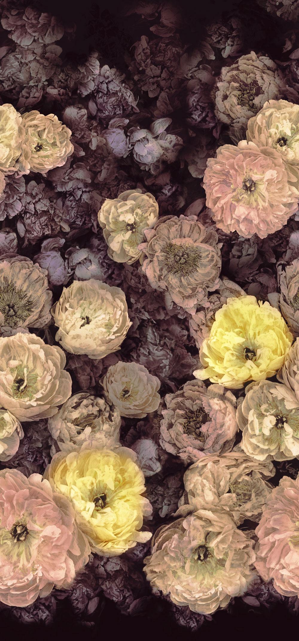 Le Poeme de Fleurs Mural - Rosewood - by Designers Guild