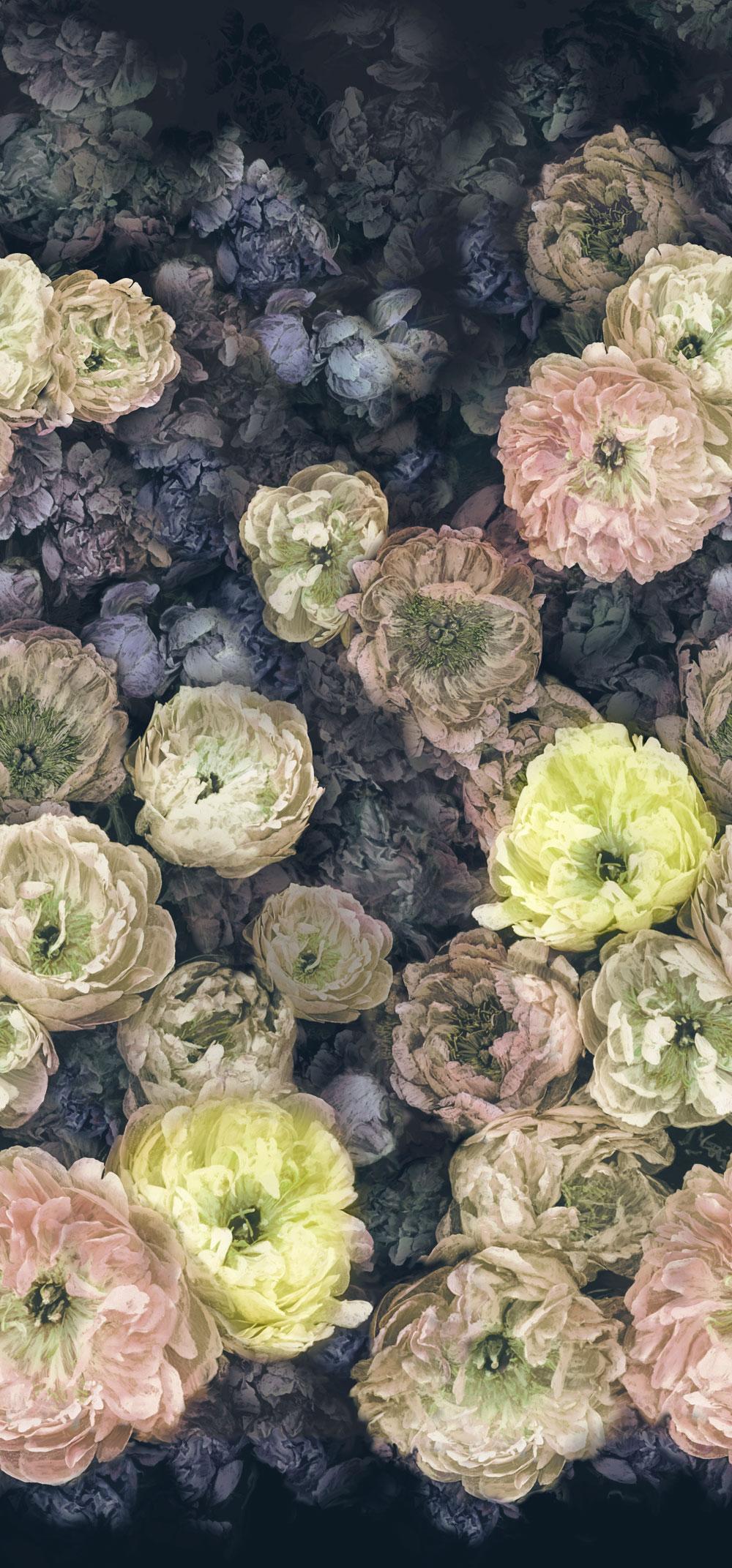 Le Poeme de Fleurs Mural - Midnight - by Designers Guild