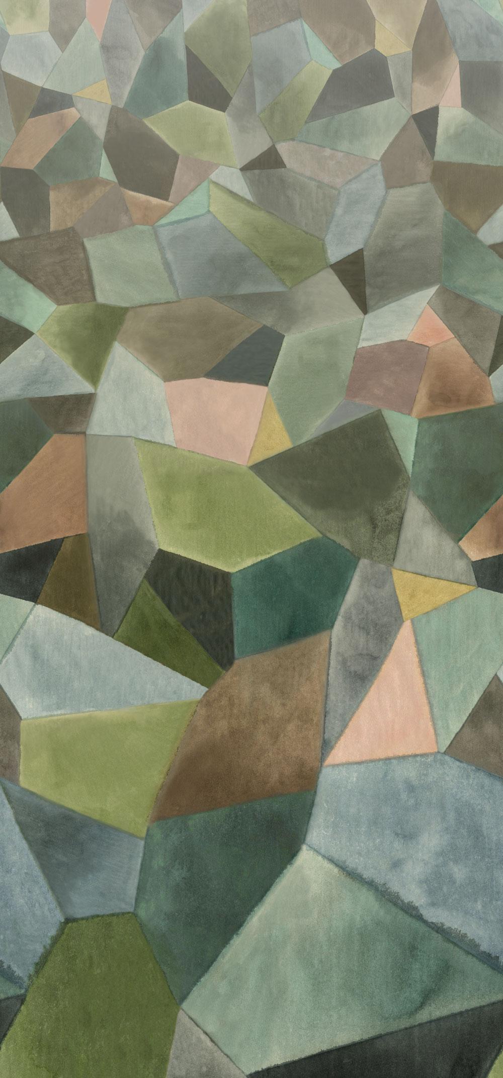 Geo Moderne Mural - Jade - by Designers Guild