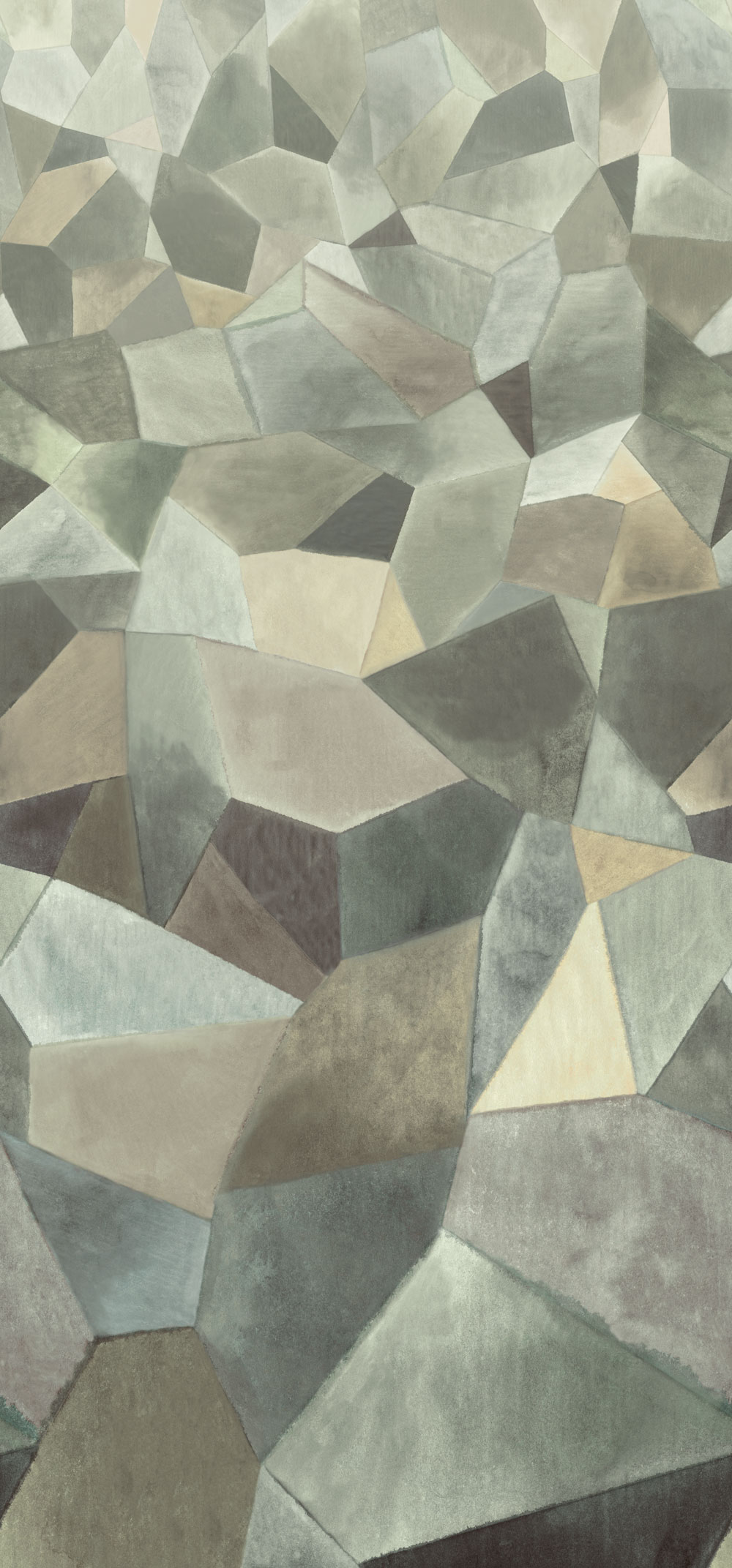 Geo Moderne Mural - Pewter - by Designers Guild