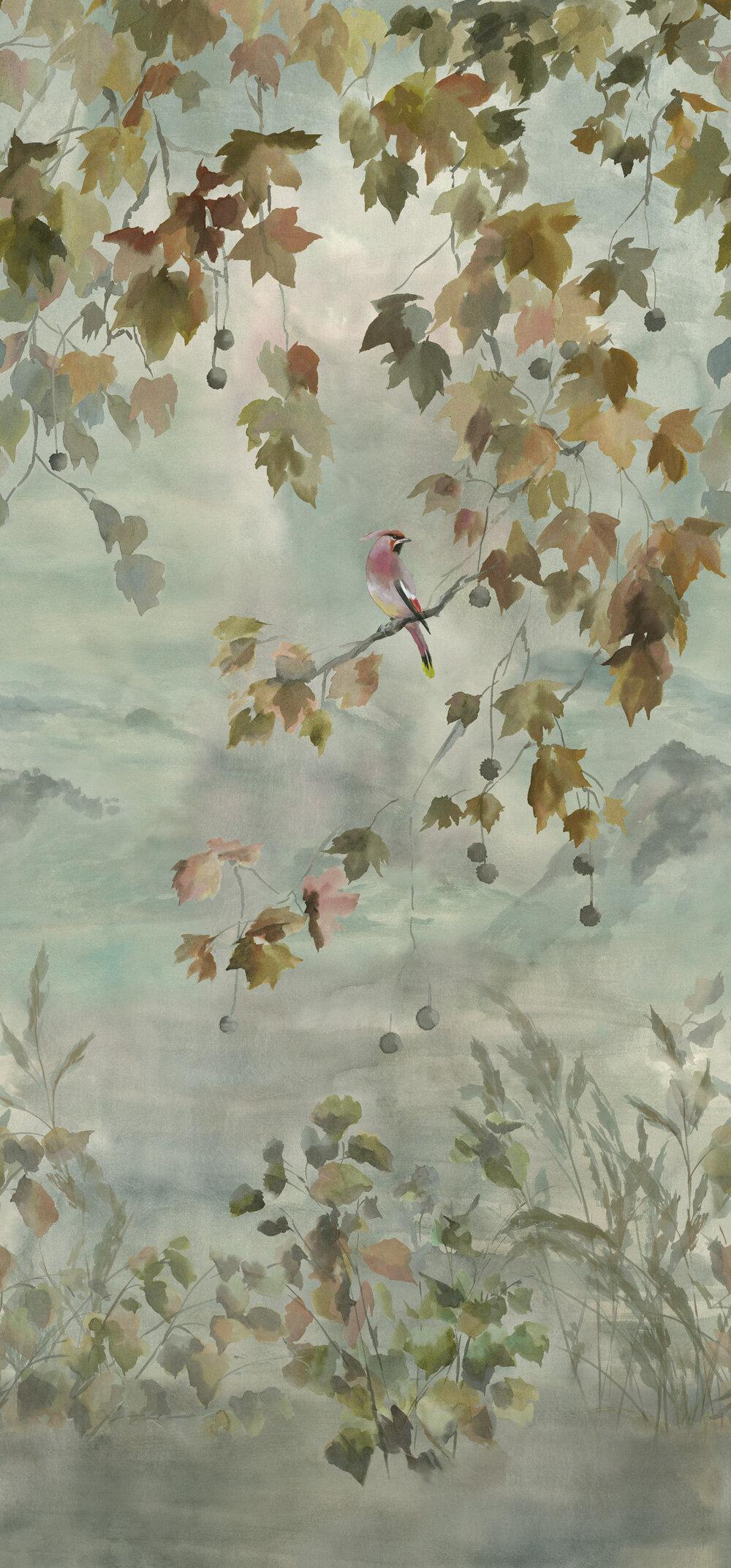 Miyako Scene 2 Mural - Dove - by Designers Guild