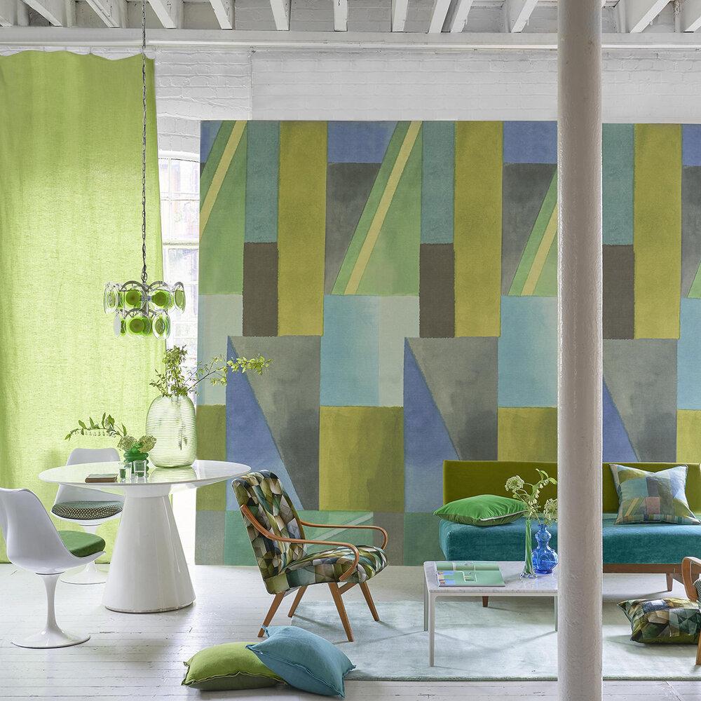 Alphonse Mural - Azure - by Designers Guild