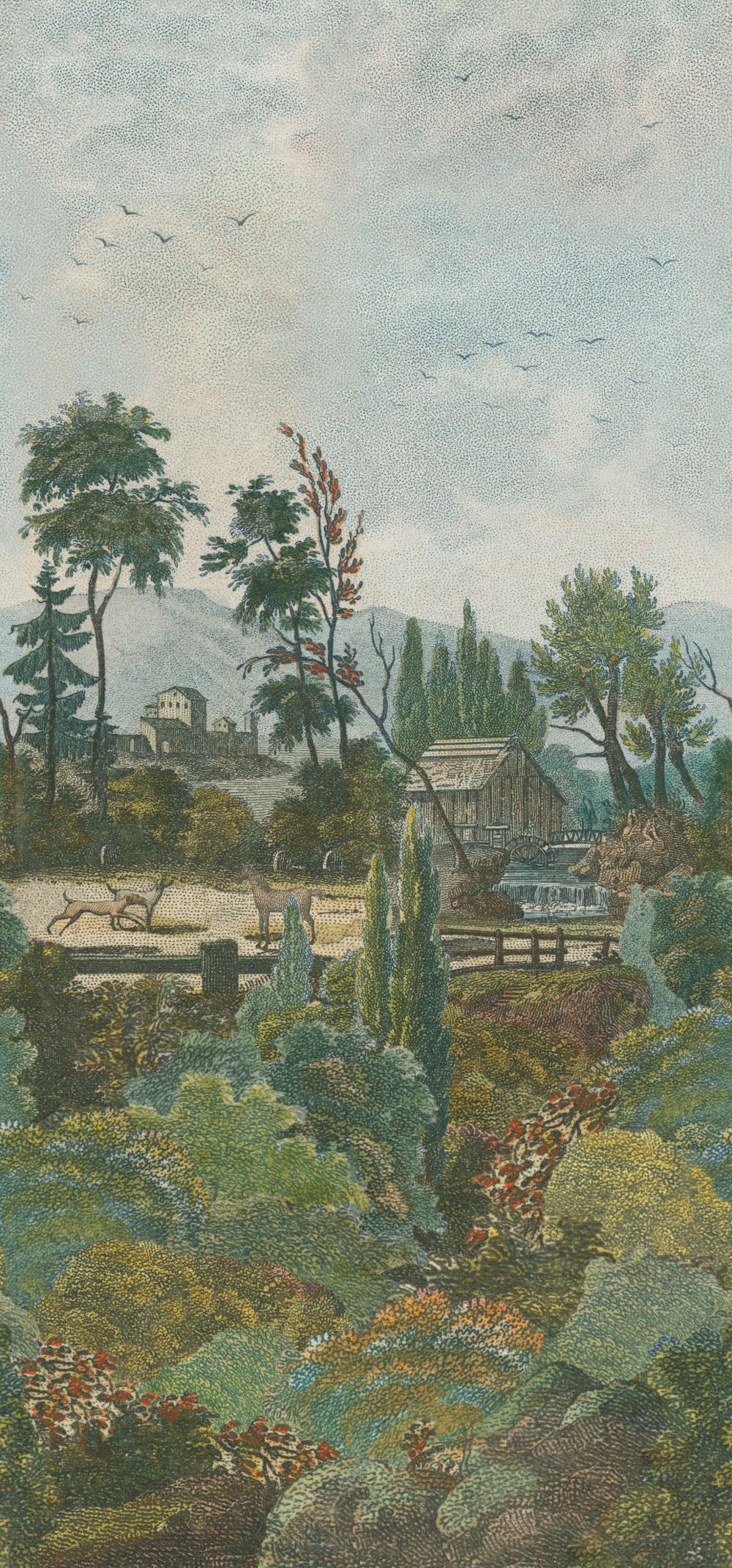 Pastoral Scene 1 Mural - Sky - by Designers Guild