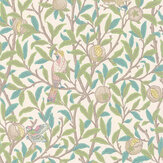 Morris Bird & Pomegranate Pearl / Jade Wallpaper - Product code: 216714