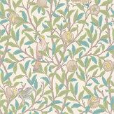 Morris Bird & Pomegranate Pearl / Jade Wallpaper - Product code: 216714