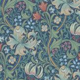 Morris Golden Lily Indigo Wallpaper - Product code: 216716
