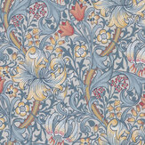 Morris Golden Lily Silver / Mist Wallpaper - Product code: 216717