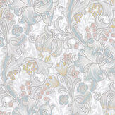 Morris Golden Lily Paper White / Blossom Wallpaper - Product code: 216718