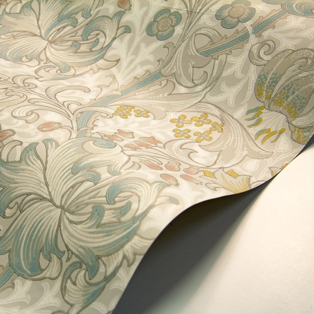 Golden Lily Wallpaper - Paper White / Blossom - by Morris