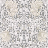 Morris Pimpernel Linen / Cloud / Grey Wallpaper - Product code: 216719