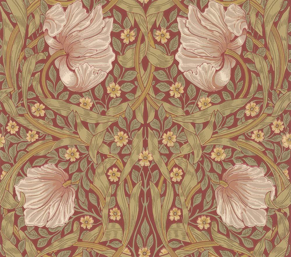 Morris Pimpernel Brick / Olive Wallpaper - Product code: 216729