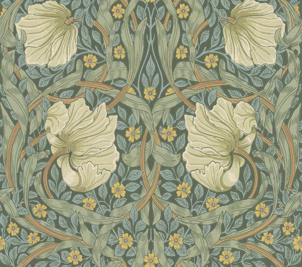 Morris Pimpernel Privet / Slate Wallpaper - Product code: 216731