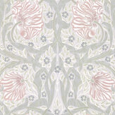 Morris Pimpernel Blossom / Mist Wallpaper - Product code: 216732