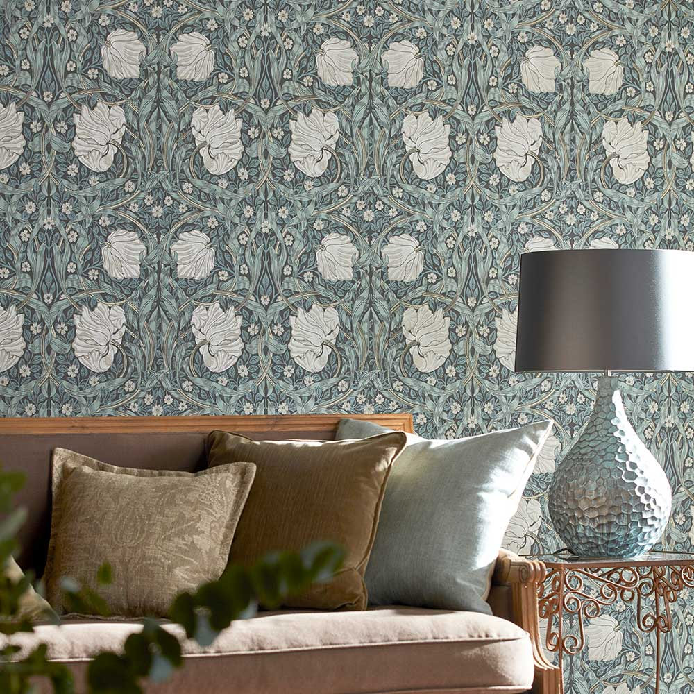 Morris Pimpernel Charcoal / Multi Wallpaper - Product code: 216734