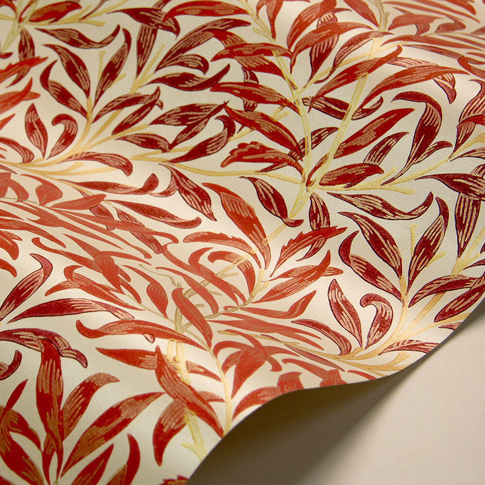 Willow Boughs Wallpaper - Madder / Claret - by Morris