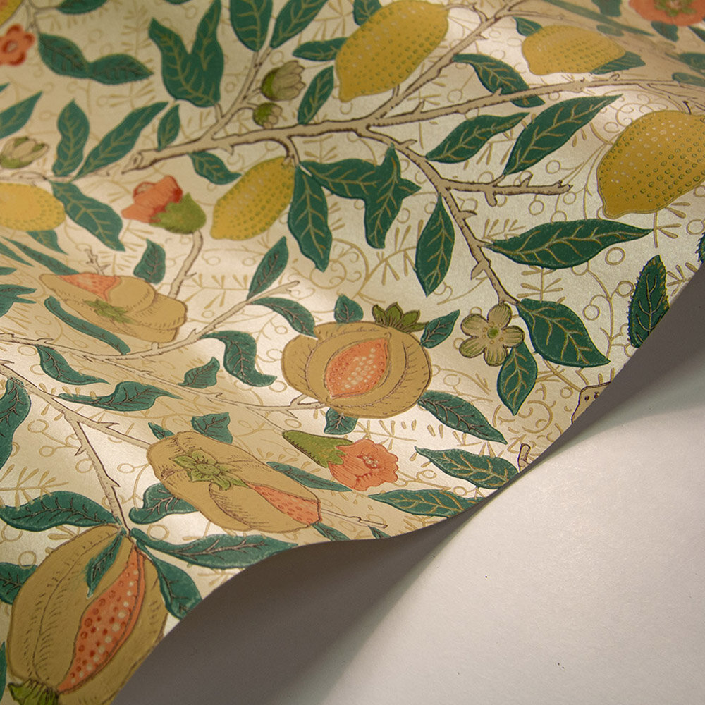 Morris Fruit Gold / Jade Wallpaper - Product code: 216723