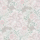 Morris Morris Seaweed Gilver /Faded Sea Pink Wallpaper - Product code: 216727