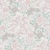 Morris Morris Seaweed Gilver /Faded Sea Pink Wallpaper - Product code: 216727