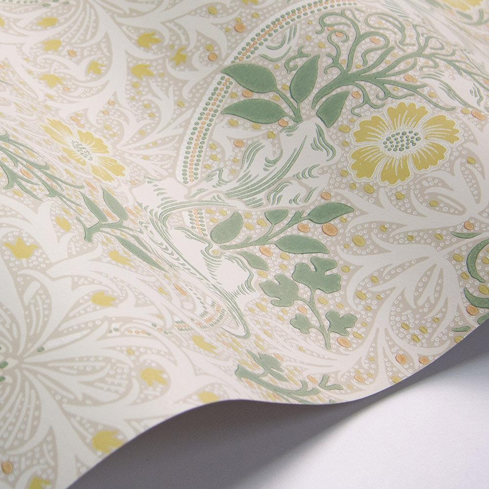 Morris Seaweed Wallpaper - Gold / Artichoke - by Morris