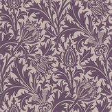 Morris Thistle Mulberry / Champagne Wallpaper - Product code: 216735