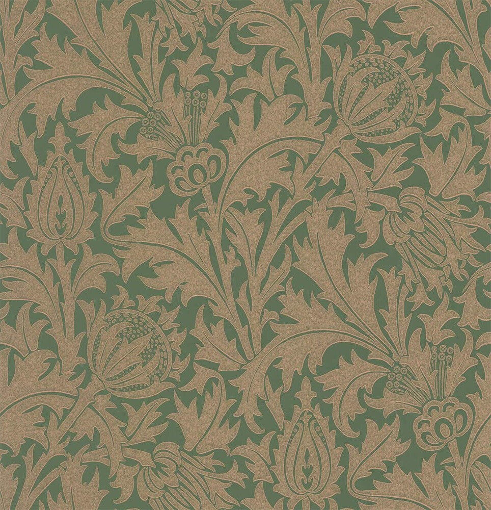 Morris Thistle Forest / Gilver Wallpaper - Product code: 216736