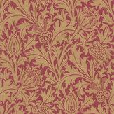 Morris Thistle Claret / Gold Wallpaper - Product code: 216737