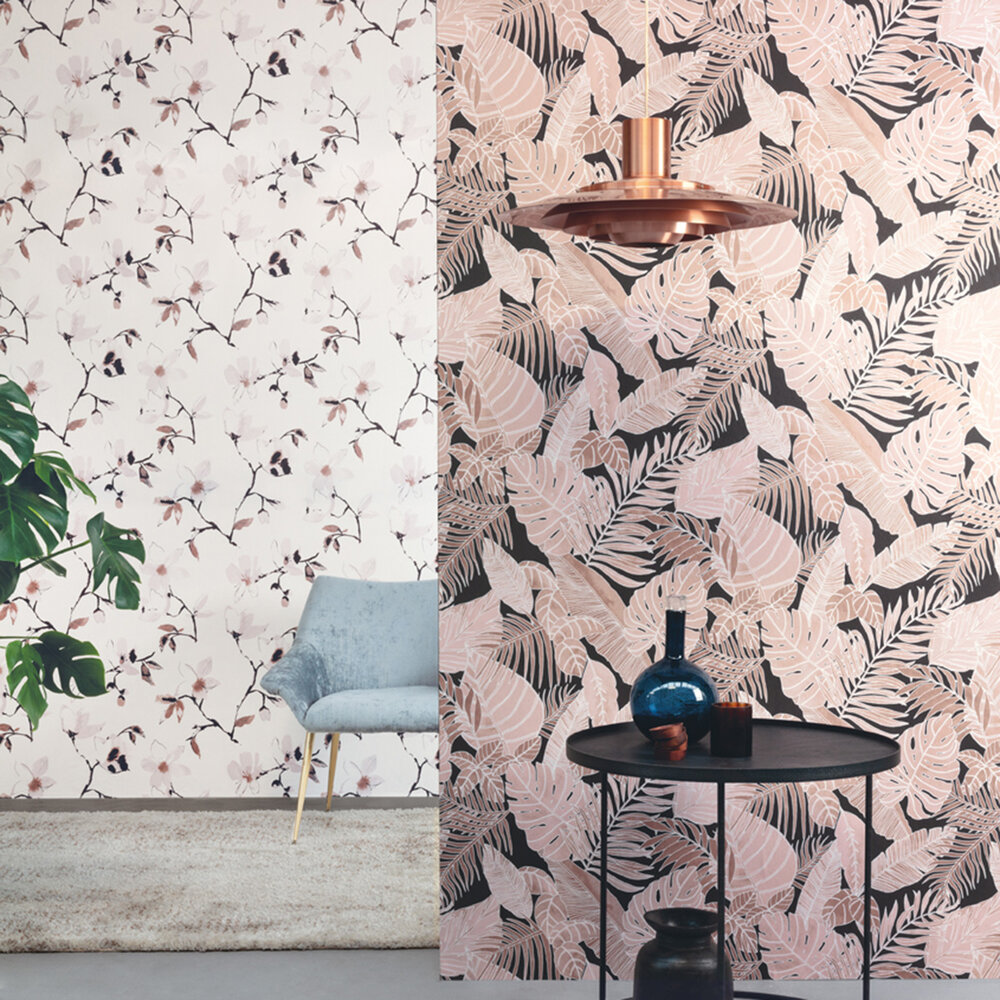 Zoom by Masureel Laetitia Woodrose Wallpaper - Product code: LAV002