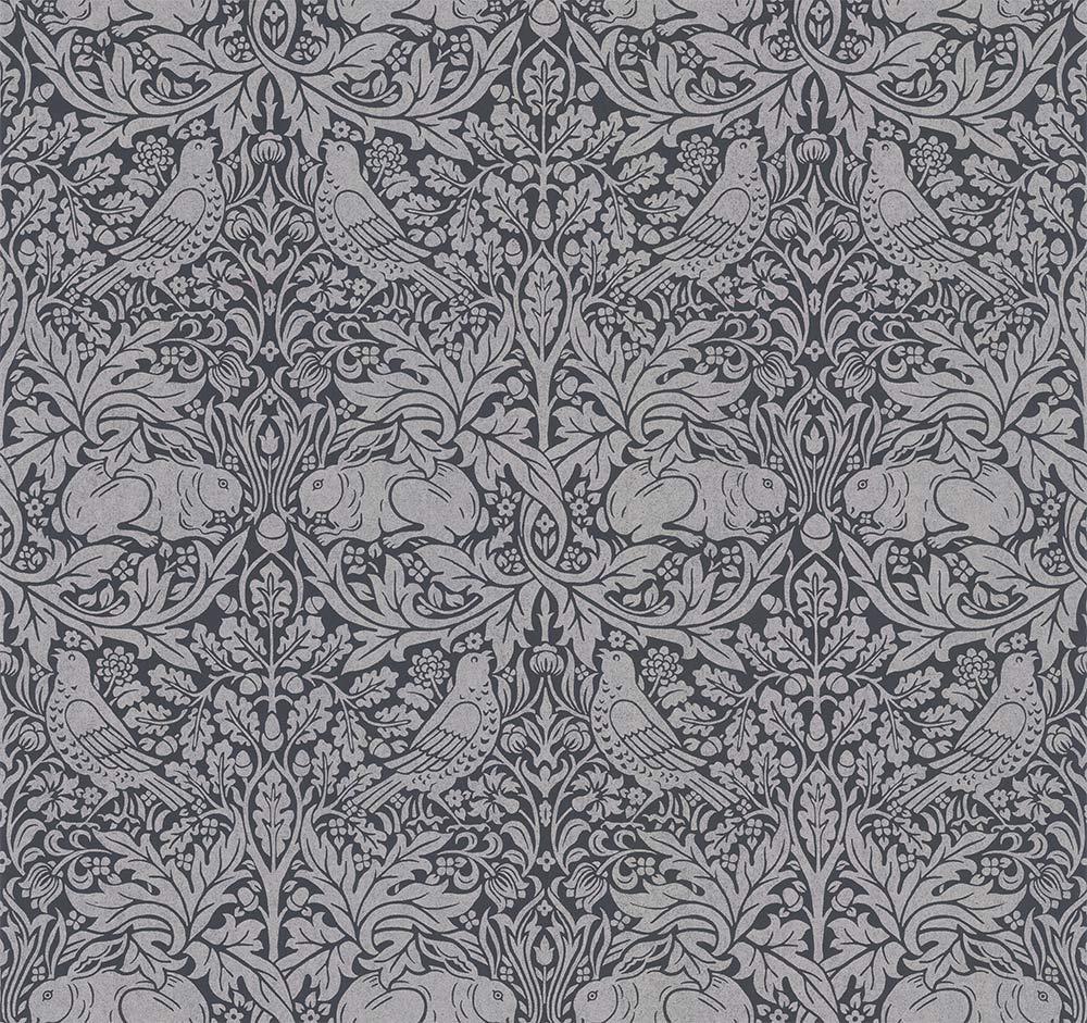 Morris Brer Rabbit Ink / Silver Wallpaper - Product code: 216741