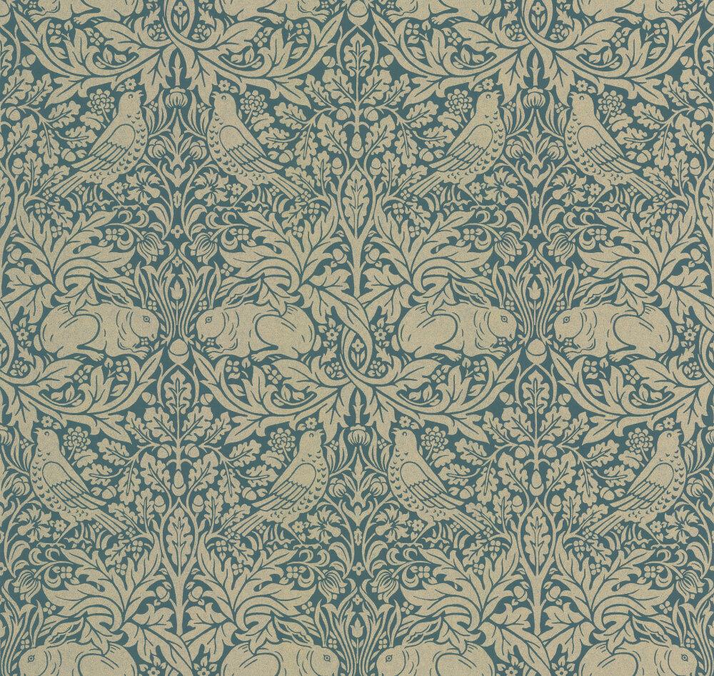 Morris Brer Rabbit Peacock / Gold Wallpaper - Product code: 216742