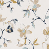 Zoom by Masureel Laetitia Teal Wallpaper - Product code: LAV007