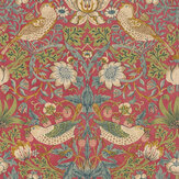 Morris Strawberry Thief Crimson Wallpaper - Product code: 216748