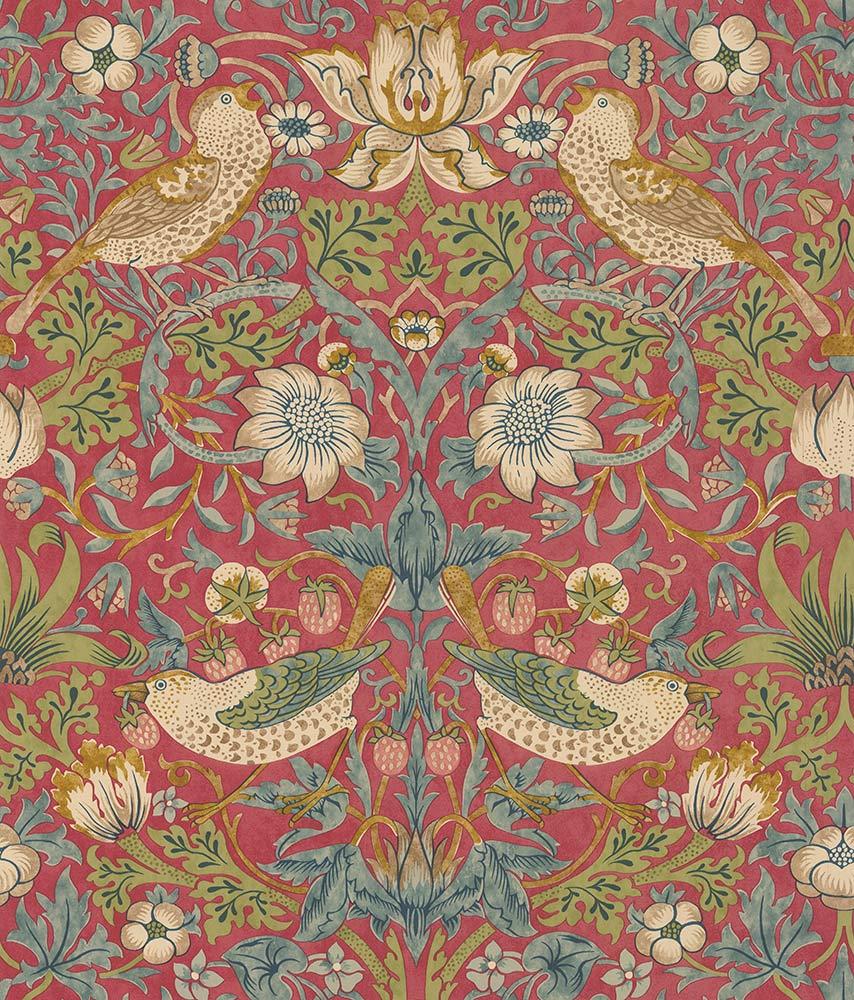 Morris Strawberry Thief Crimson Wallpaper - Product code: 216748