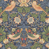 Morris Strawberry Thief Indigo Wallpaper - Product code: 216749