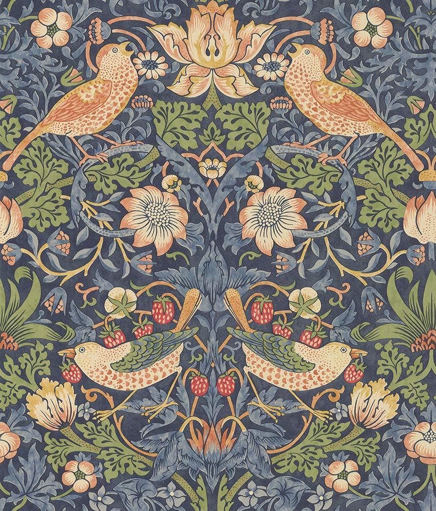Morris Strawberry Thief Indigo Wallpaper - Product code: 216749
