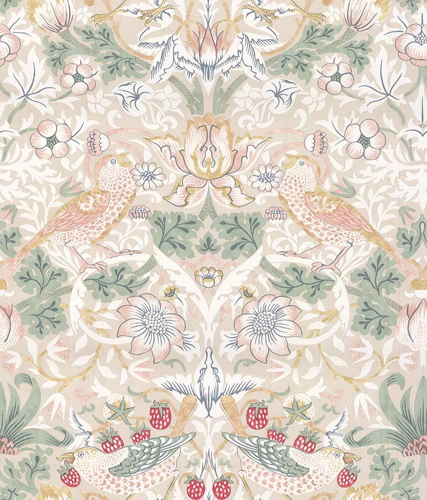 Morris Strawberry Thief Cream Wallpaper - Product code: 216750