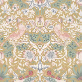 Morris Strawberry Thief Gold Wallpaper - Product code: 216751