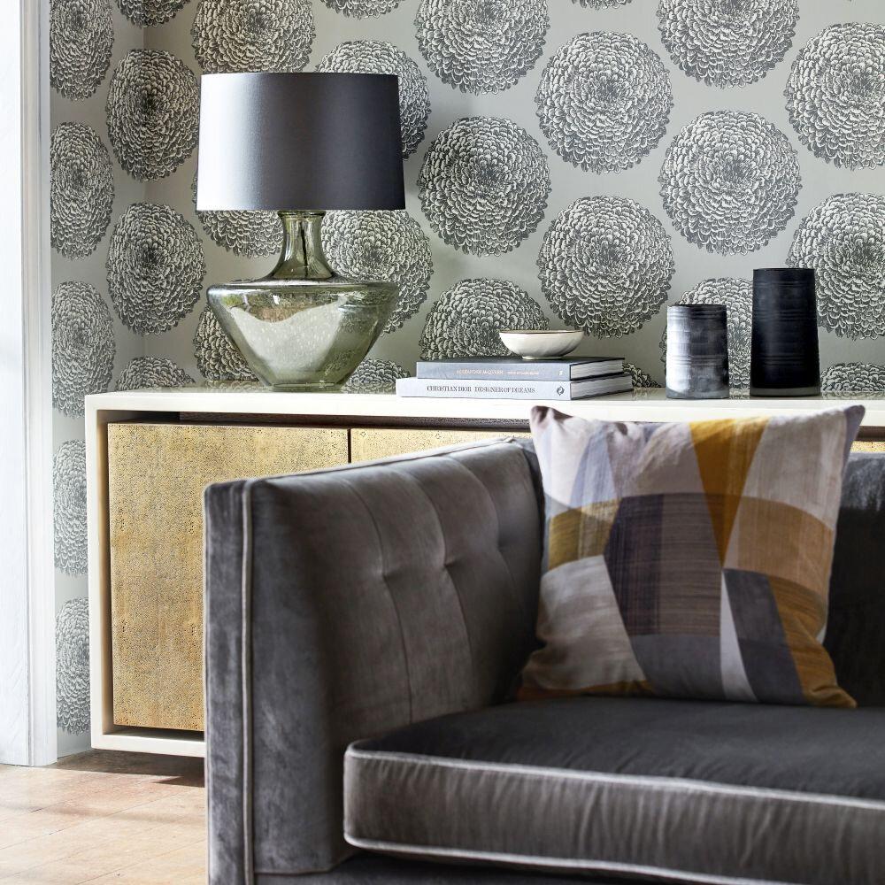 Elixity Wallpaper - Titanium - by Harlequin