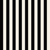 Galerie Medium Stripe Black / Pearl Wallpaper - Product code: SY33907