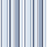 Galerie Multi Stripe Navy / Blue Wallpaper - Product code: ST36911