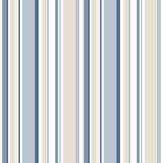 Galerie Multi Stripe Navy / Blue / Beige Wallpaper - Product code: SY33963